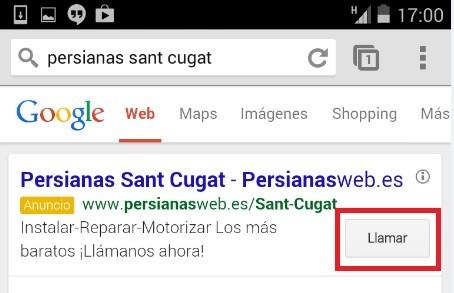 Anuncio Adwords Extencion Llamada Quito